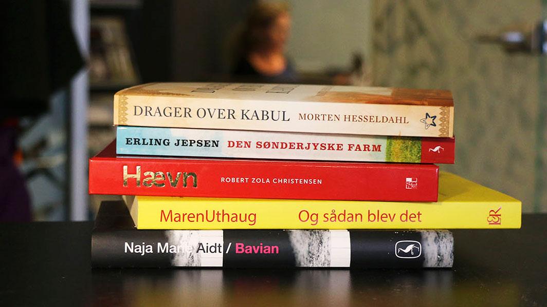 De fem titler til Danmark Læser Dagen