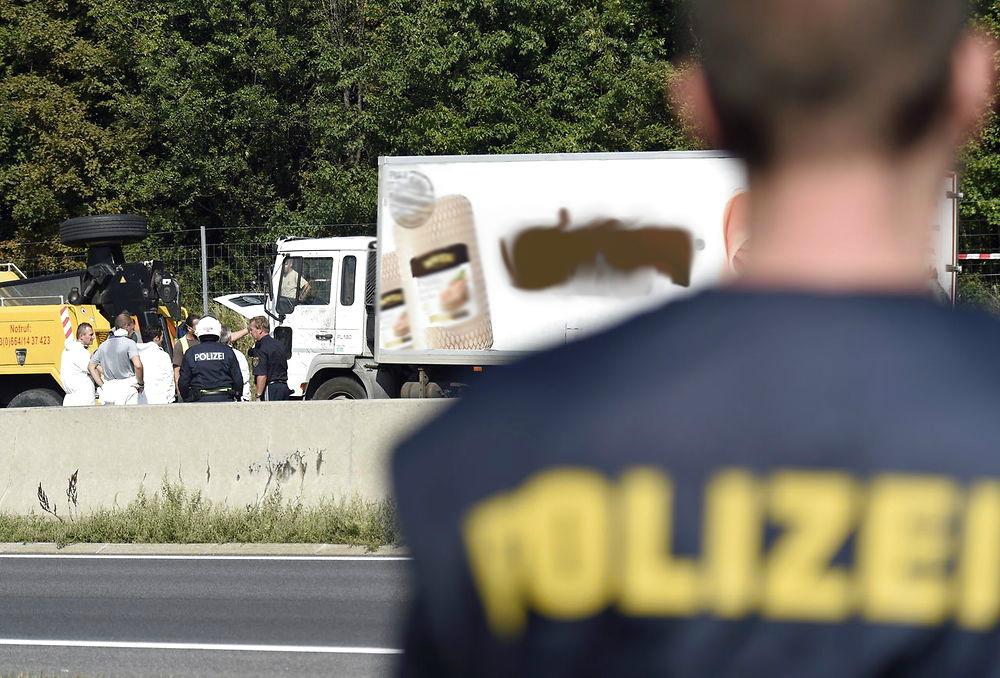 østrig lastbil flygtninge