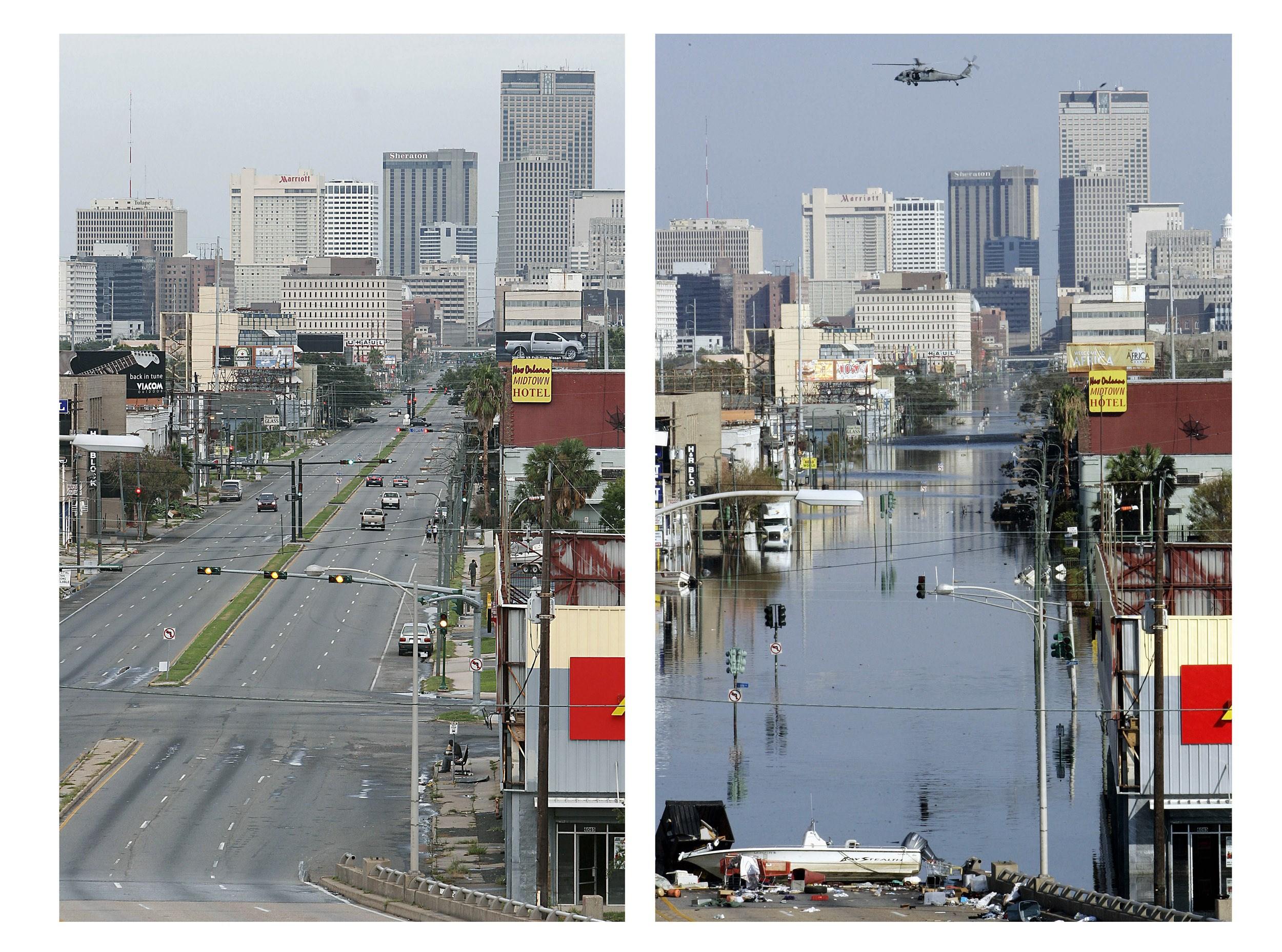 New Orleans før og nu