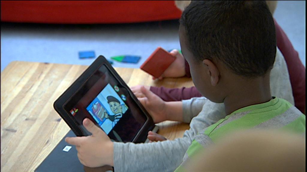Børn med iPad