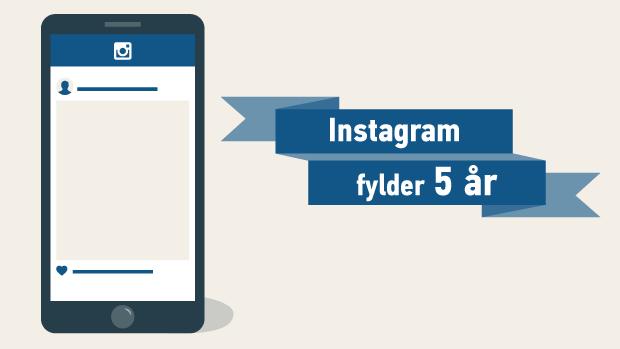 Instagram fem år