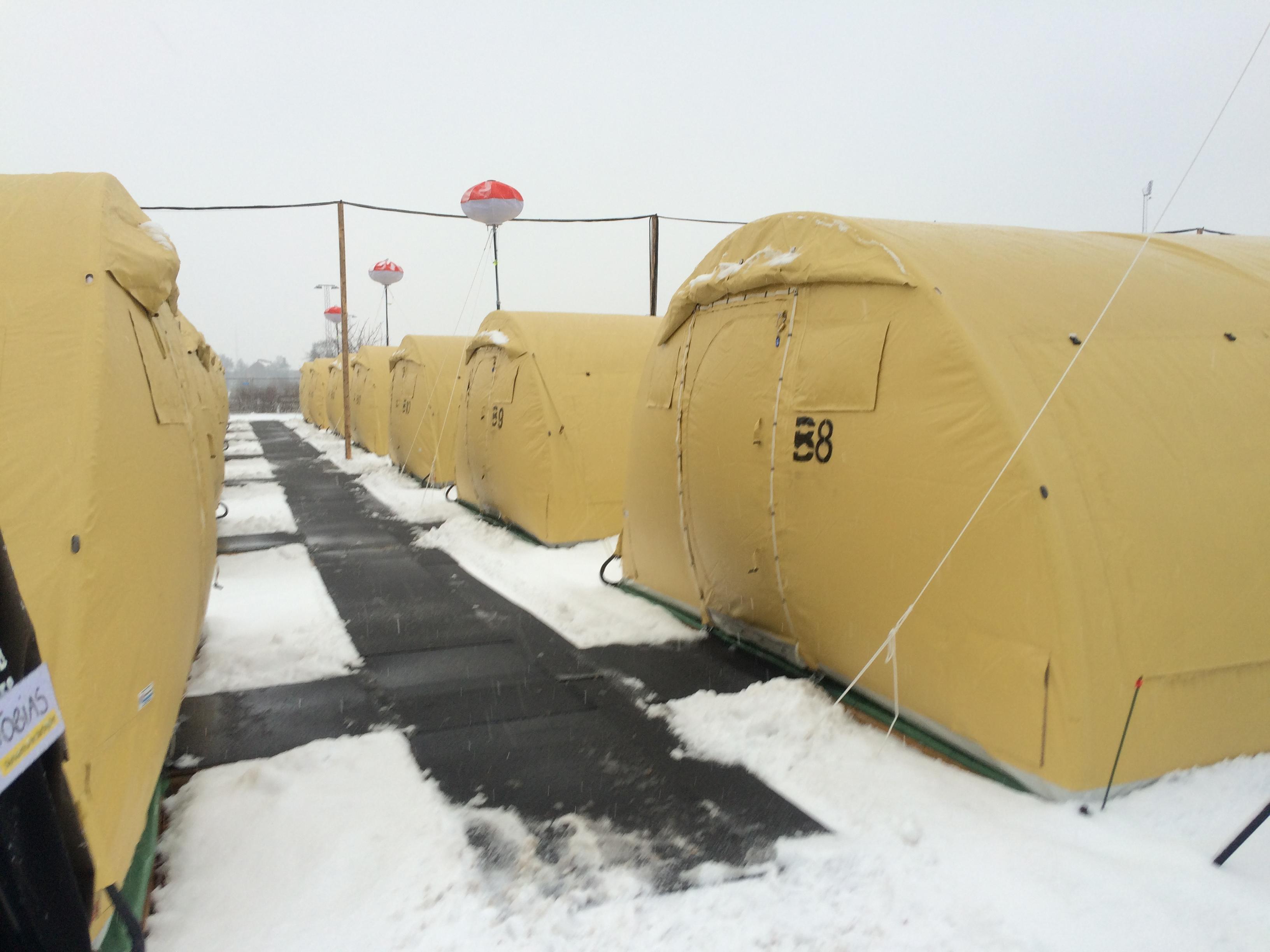 Teltlejr i Næstved