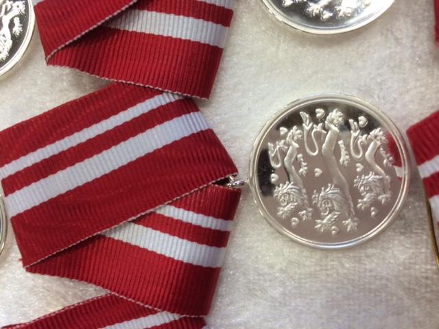 Medaljer udsendte