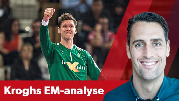 Niklas Landin og Kevin Møller er et niveau over de russiske målmænd, mener Lars Krogh.
