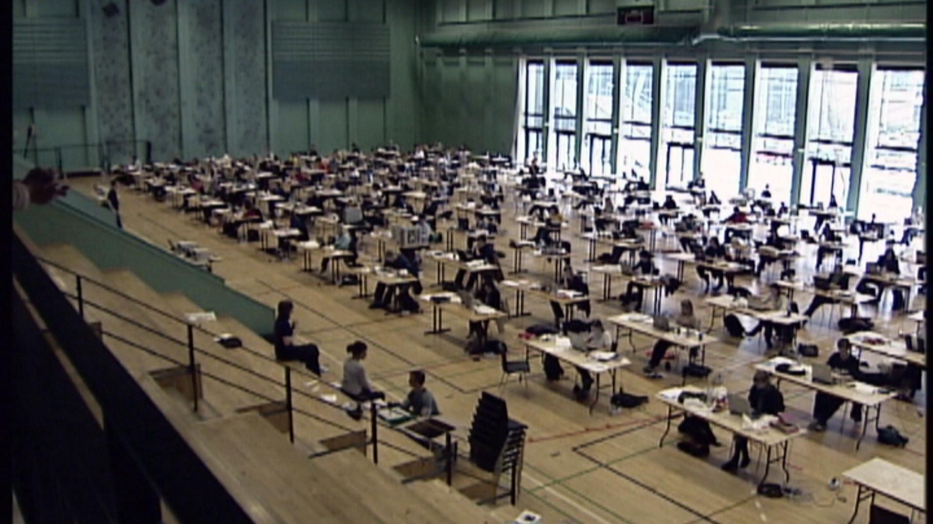 Gymnasieelever til eksamen