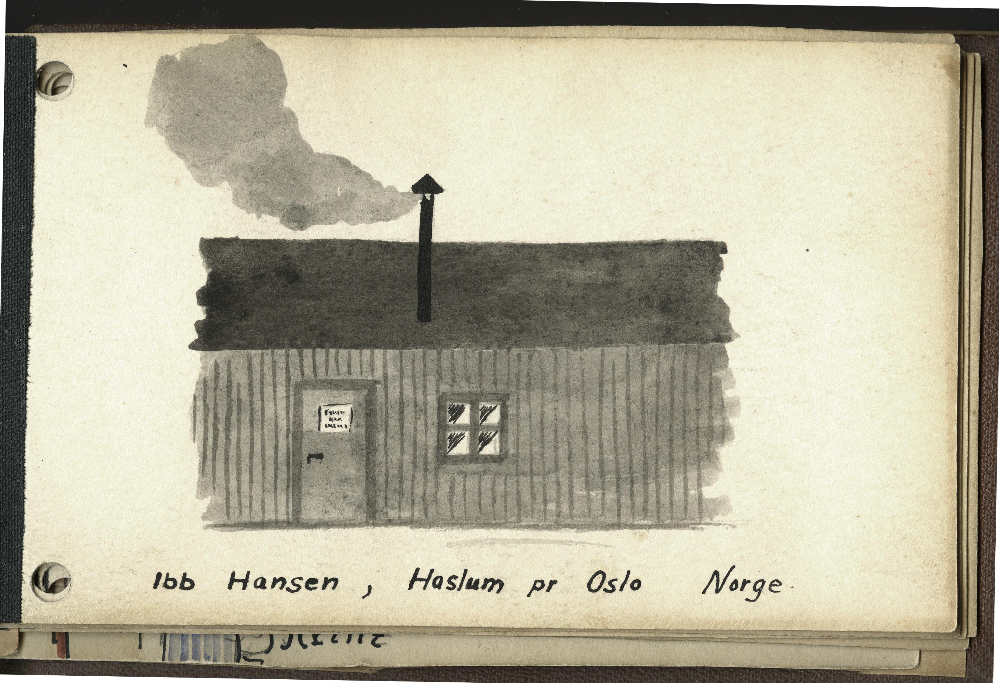 tegning fra kz-lejr
