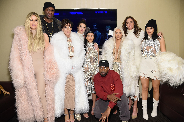 Kanye West med svigerfamilien