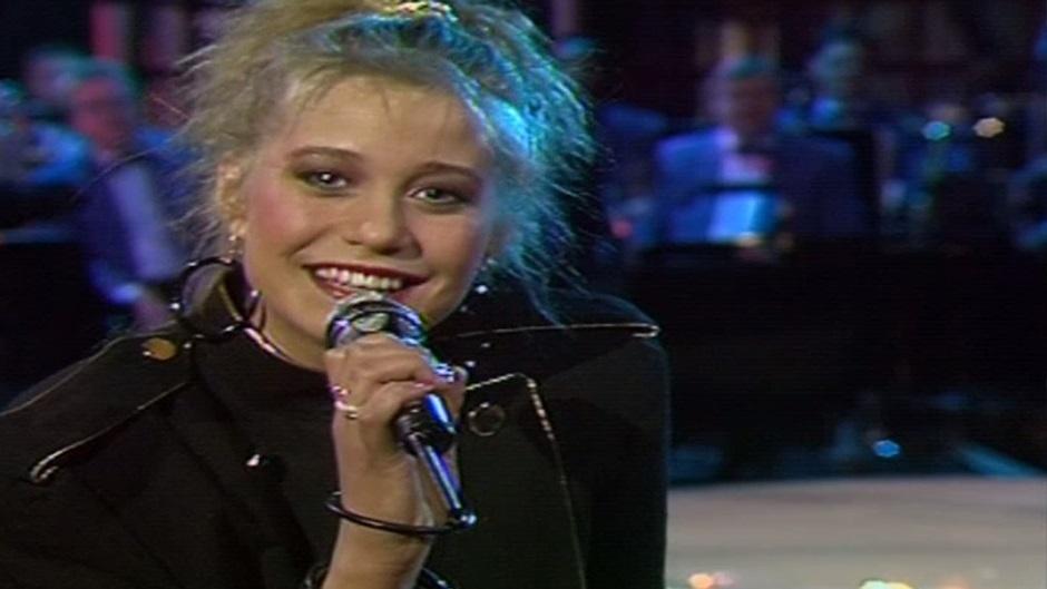 Trine Dyrholm Melodi Grand Prix 1987