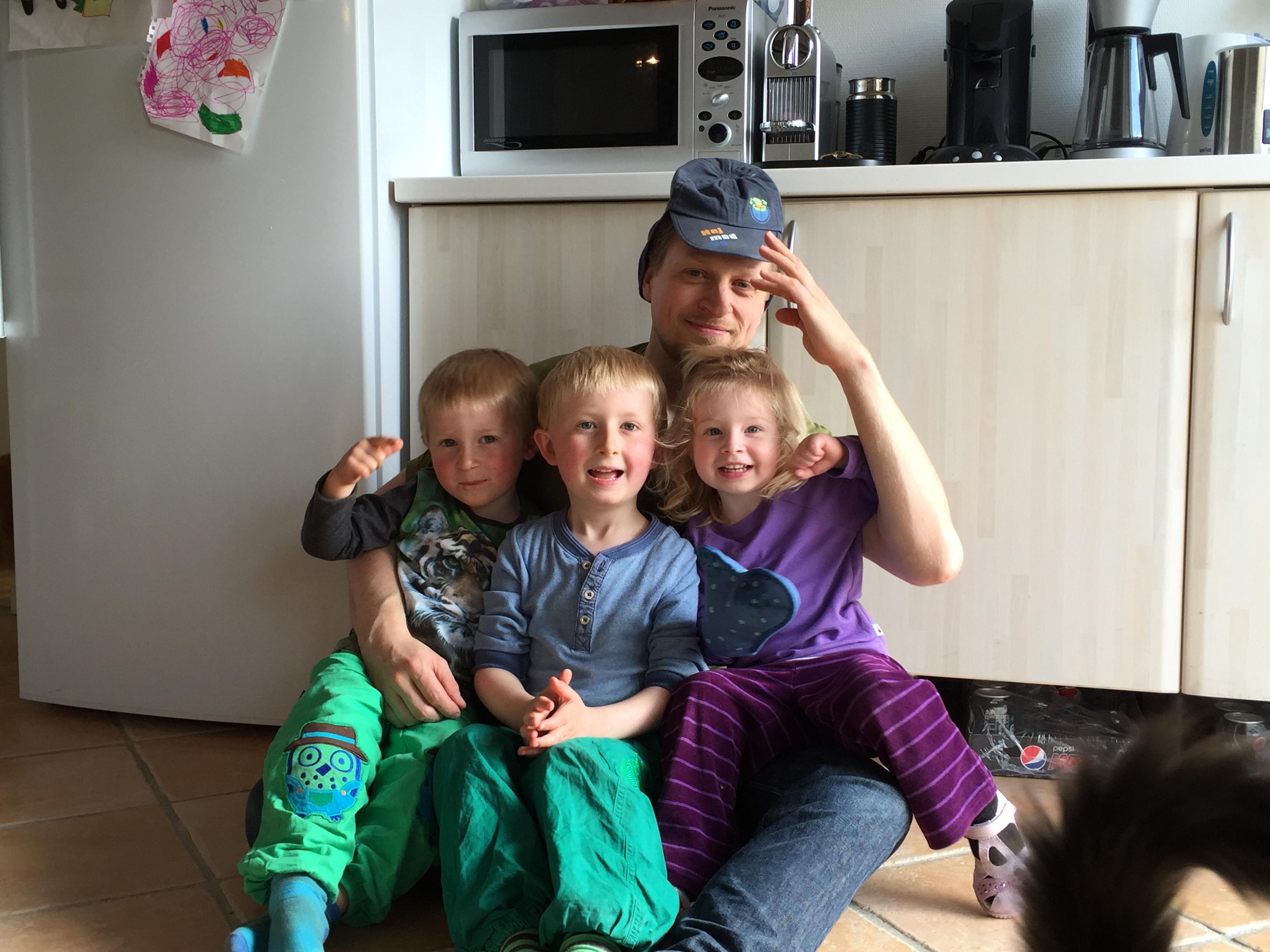 Jesper Sommer med børn