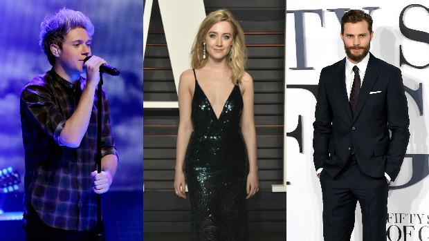 Niall Horan, Saoirse Ronan og Jamie Dornan