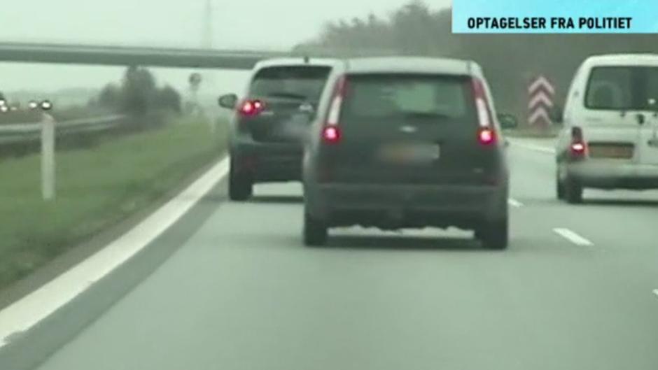 Bilist kører med 170 km/timen alt for tæt på den forankørende