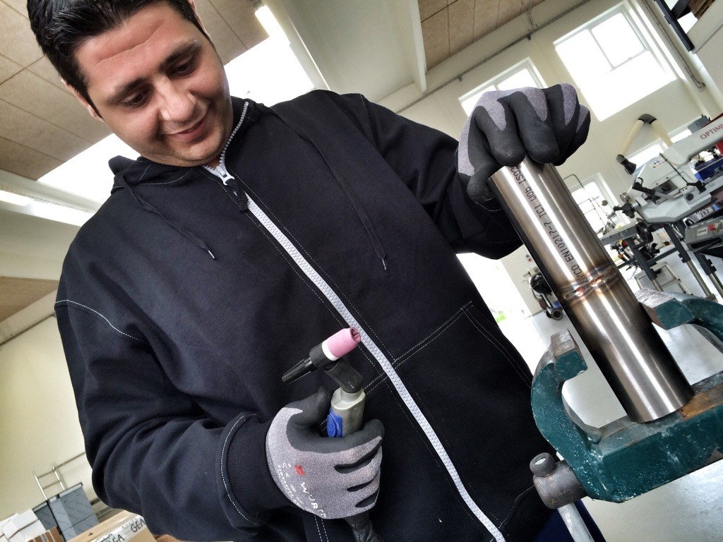 syrisk flygtning kursus svejser tradium randers