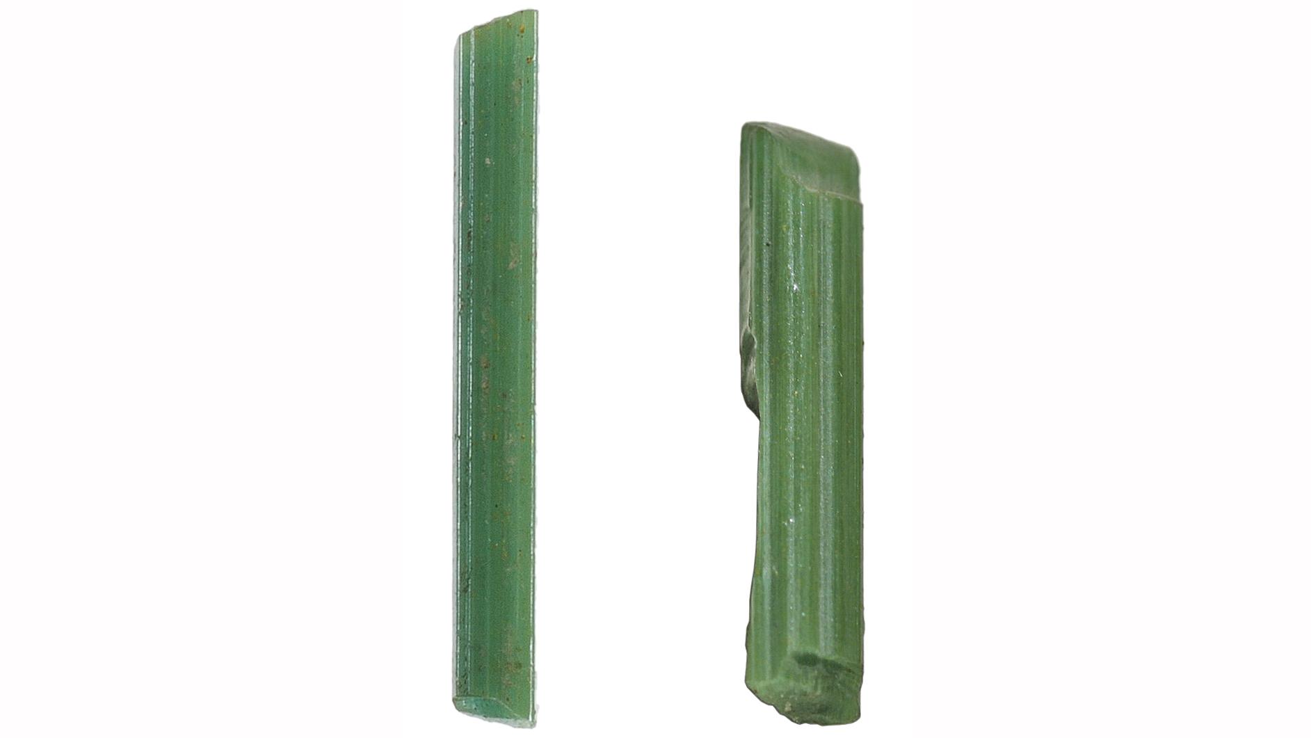 Glas stave fra Armana, Egypten, fire gange naturlig størrelse
