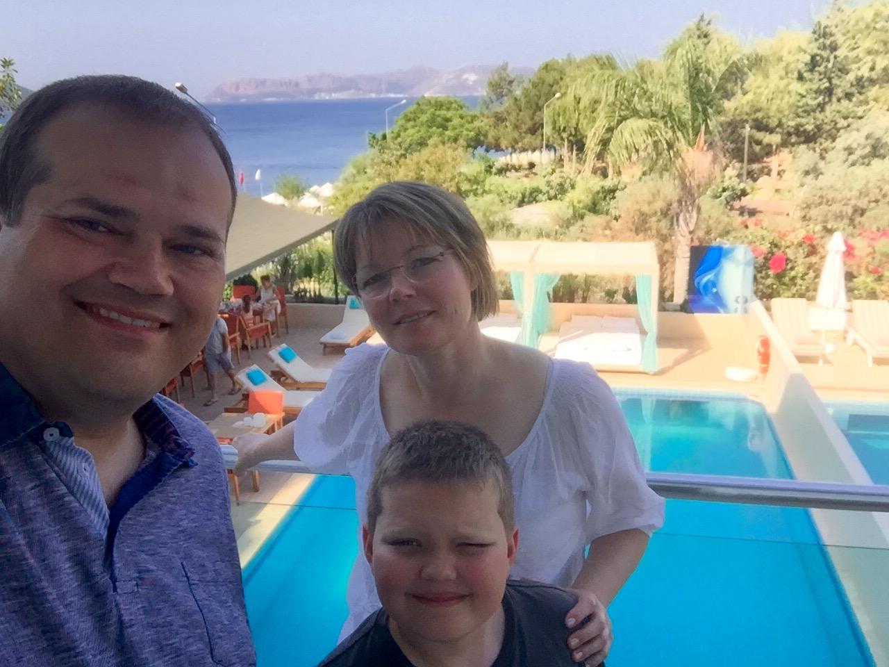 Familien Jensen i Tyrkiet
