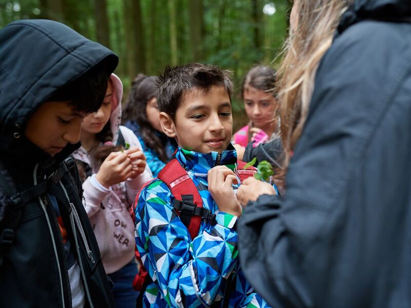 flygtningebørn i skoven