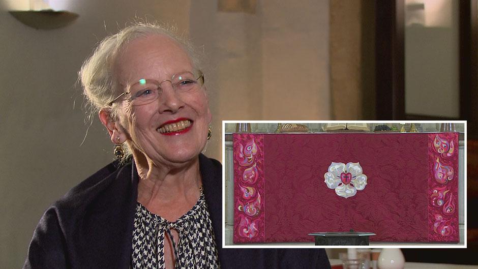 Dronning Margrethe har lavet et antependium til genåbningen af slotskirken i Wittenberg.
