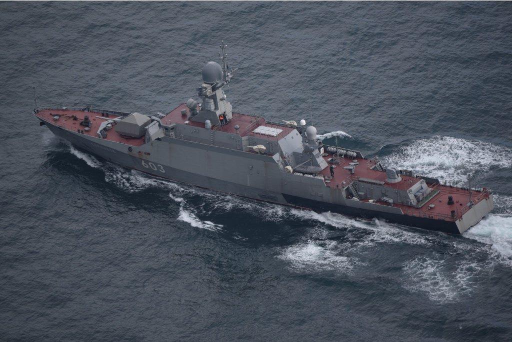 russisk krigsskib