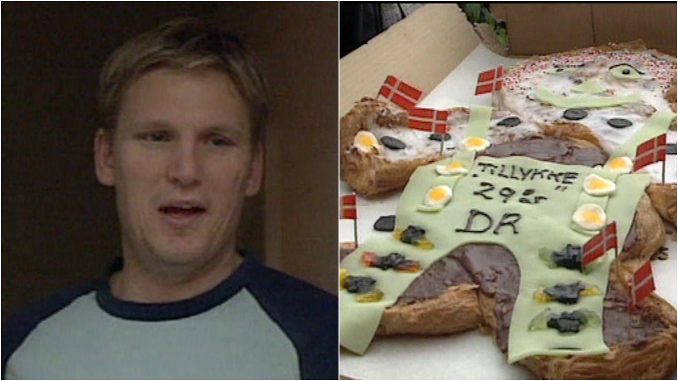 Nikolaj Jacobsen med sin fødselsdagskage