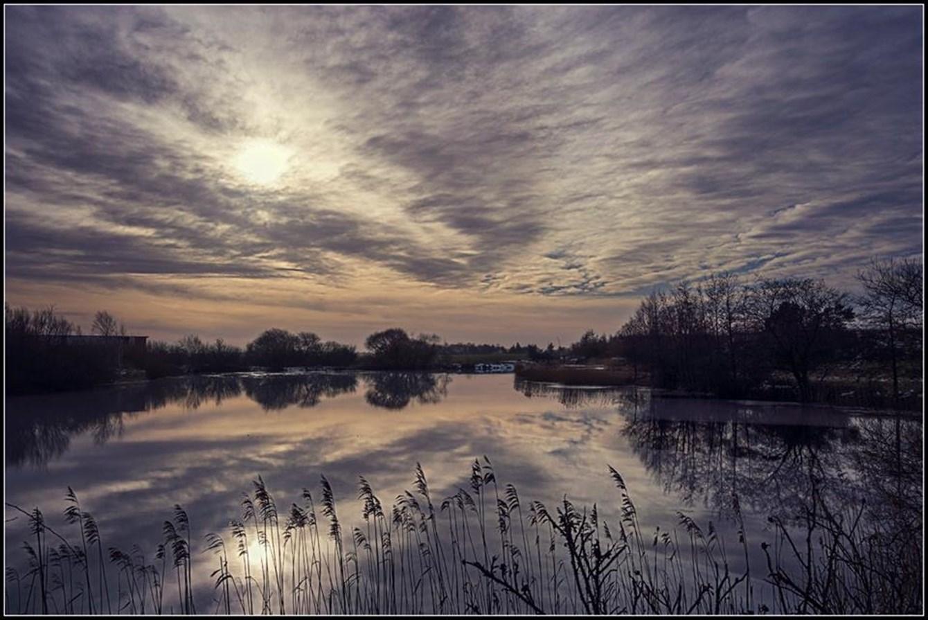 skyer på himlen over Thy