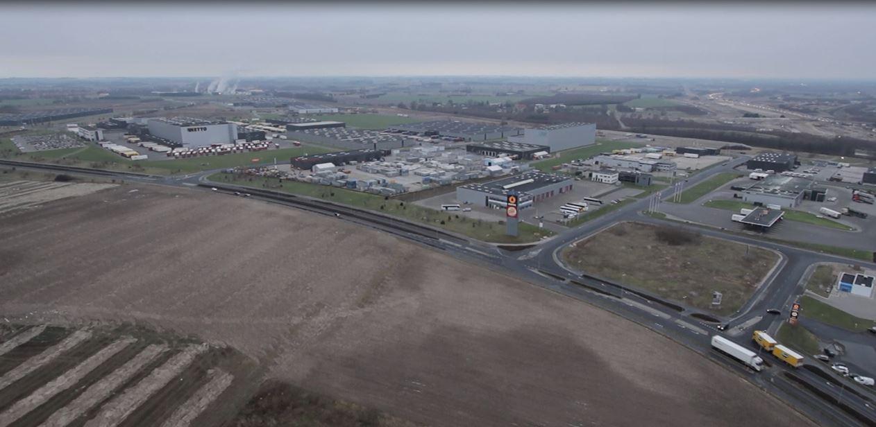 Dronebillede fra Køge