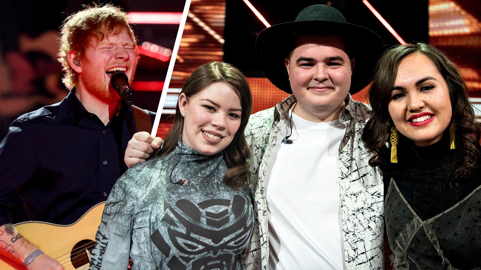 Ed Sheeran og deltagerne