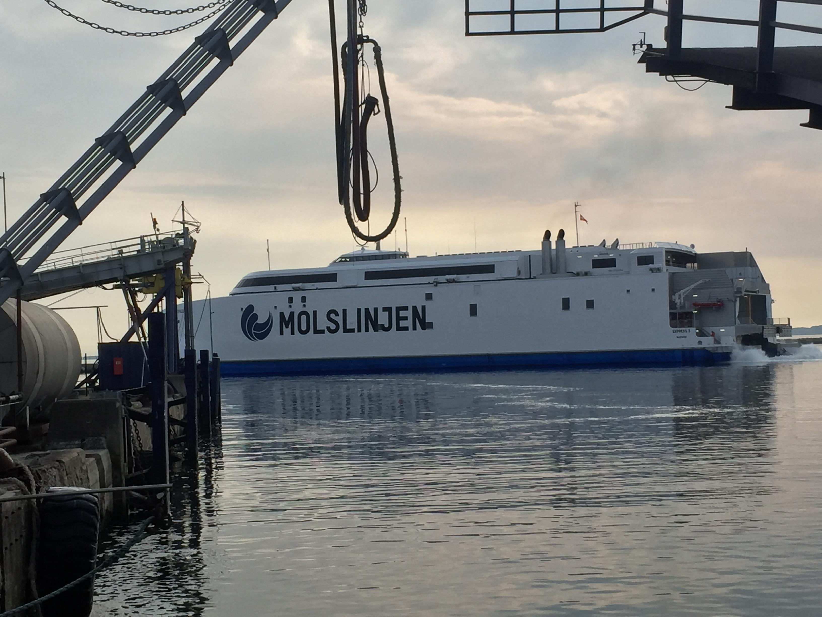 X-press Molsliniens nye færge maj 2017