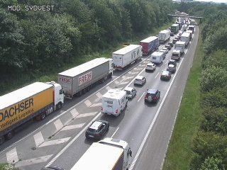 Kolding kaos på motorvejen