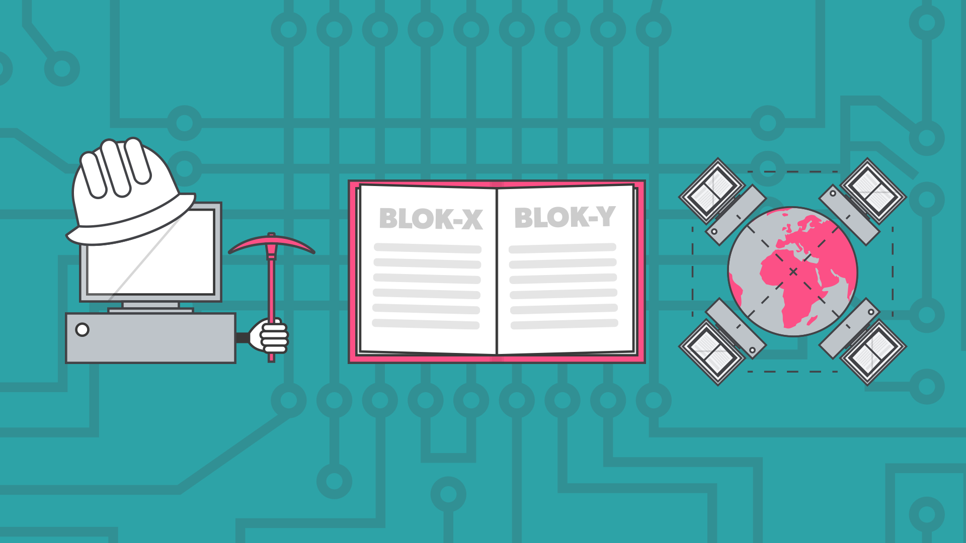 Blockchain kan ændre en hel del. Grafik: Mathis Duus Birkeholm