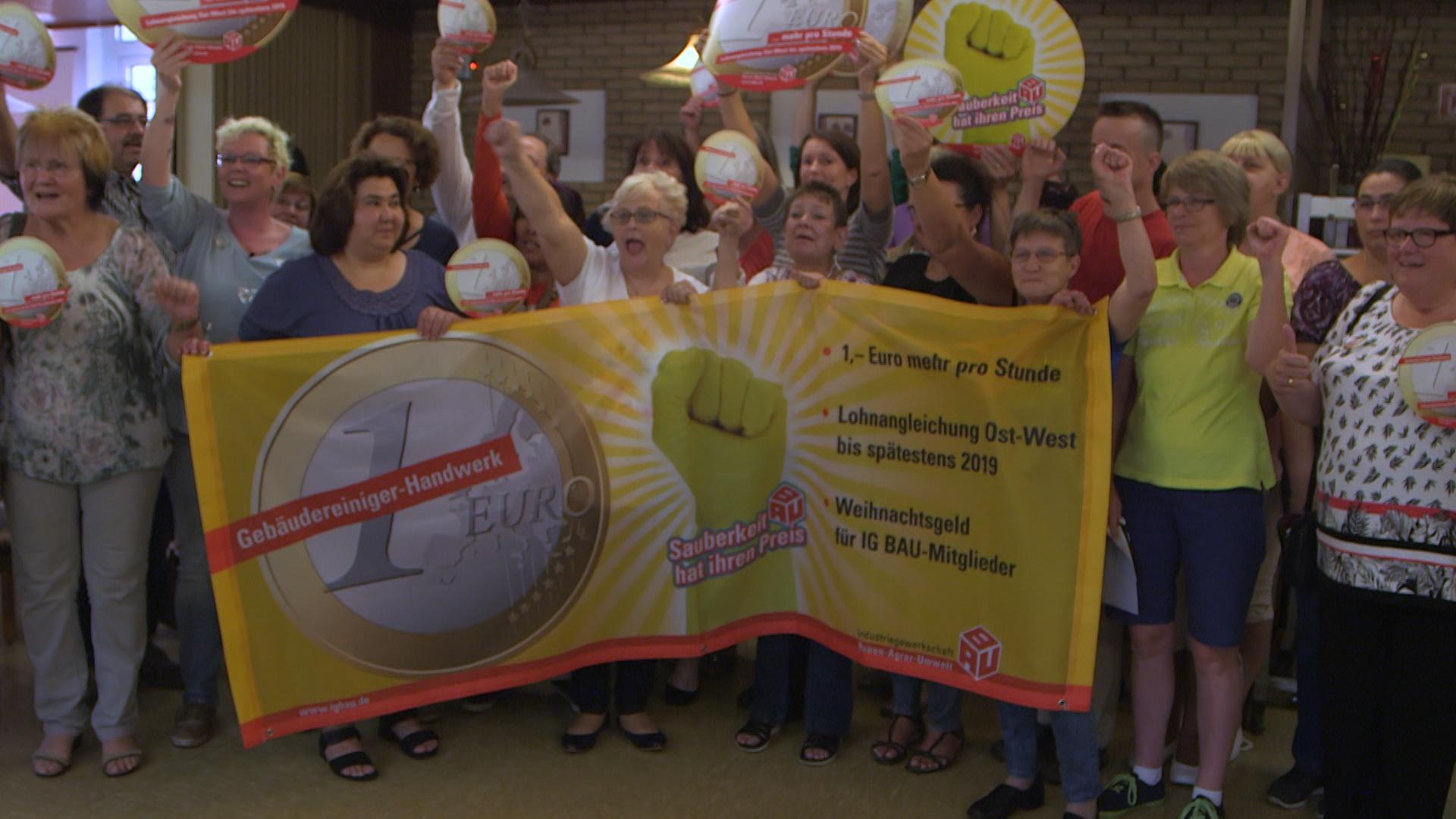 Petra Vogel kæmper for at få 1 Euro mere i timen