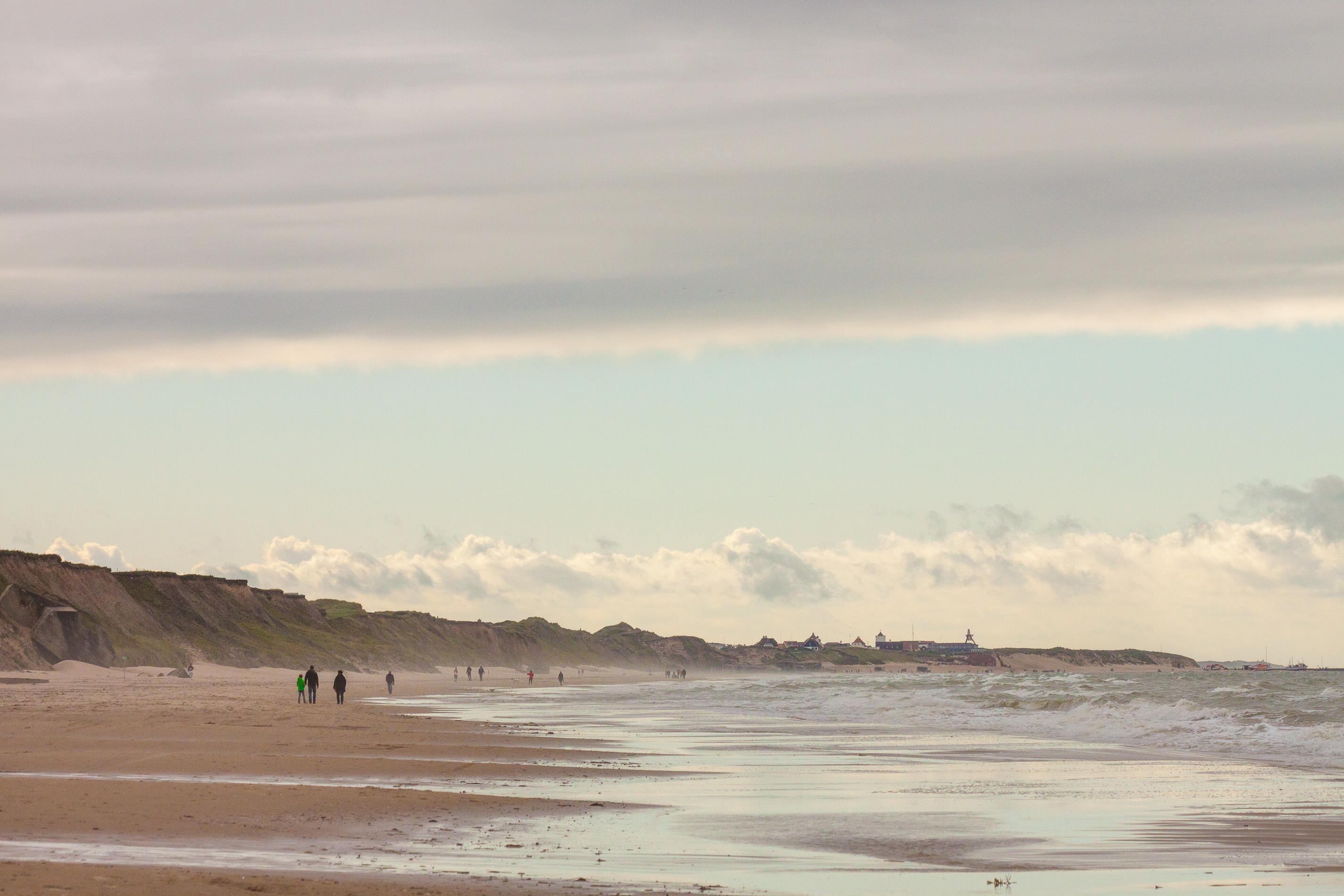 strand, skyer, kyst