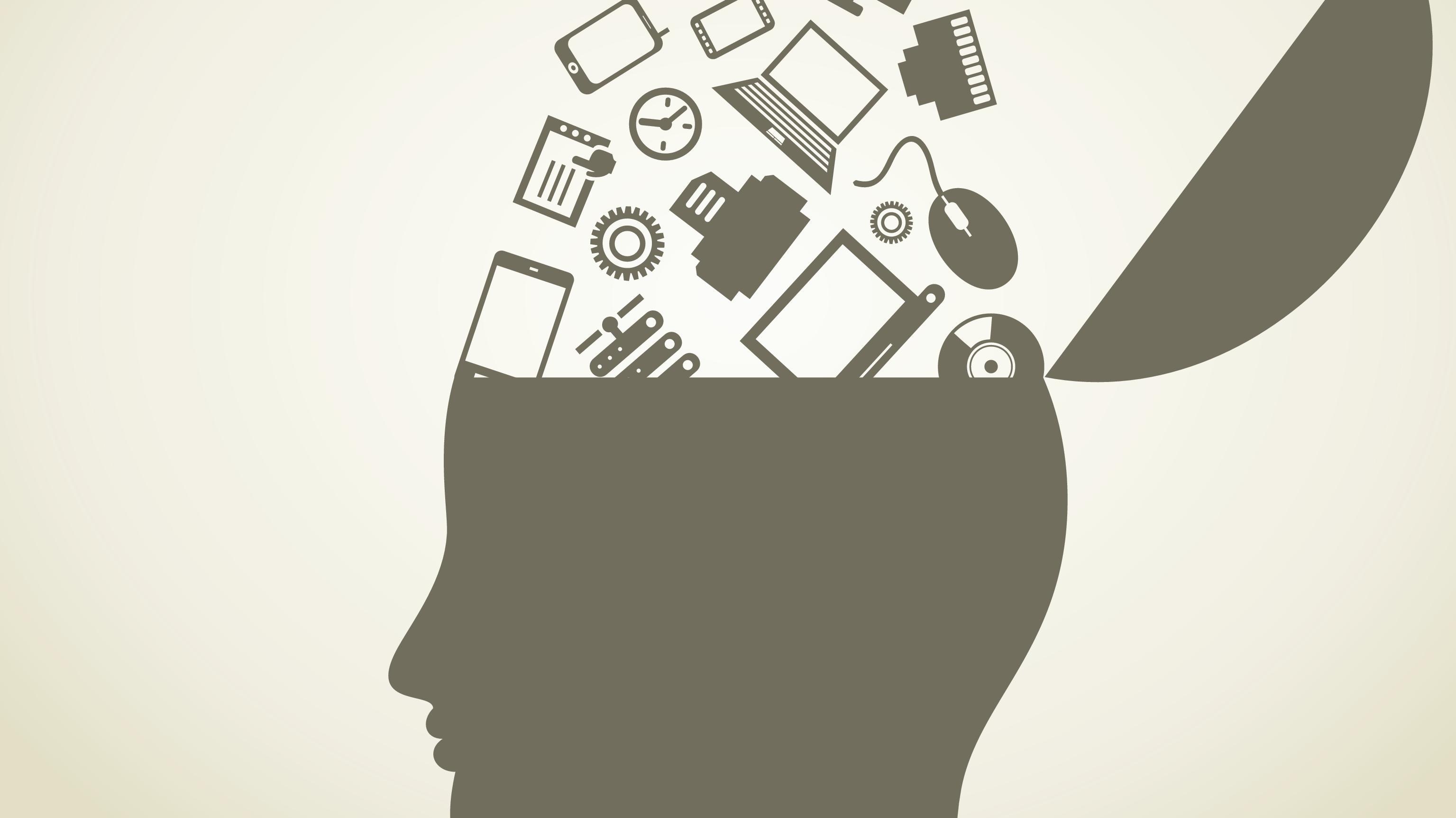 Hjerne - smartphone