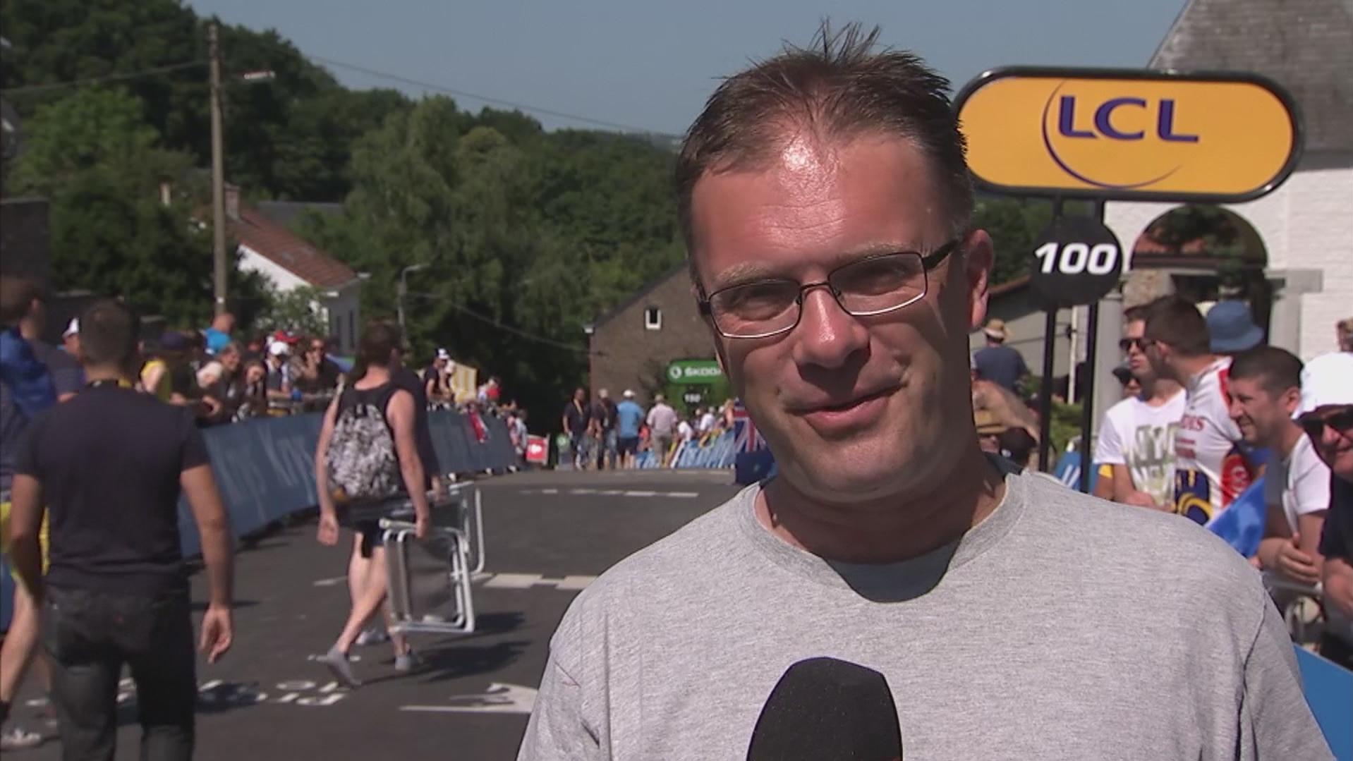 Henrik Liniger kommer med sin vurdering af dagens etape fra målstregen i Huy.