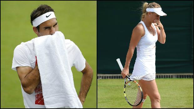 Roger Federer og Caroline Wozniacki