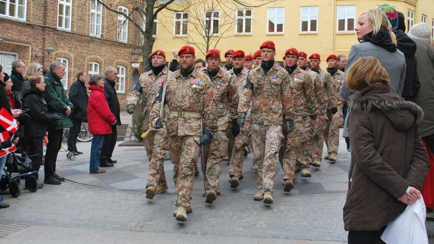 Parade i Holstebro for hjemvendte soldater fra Afghanistan
