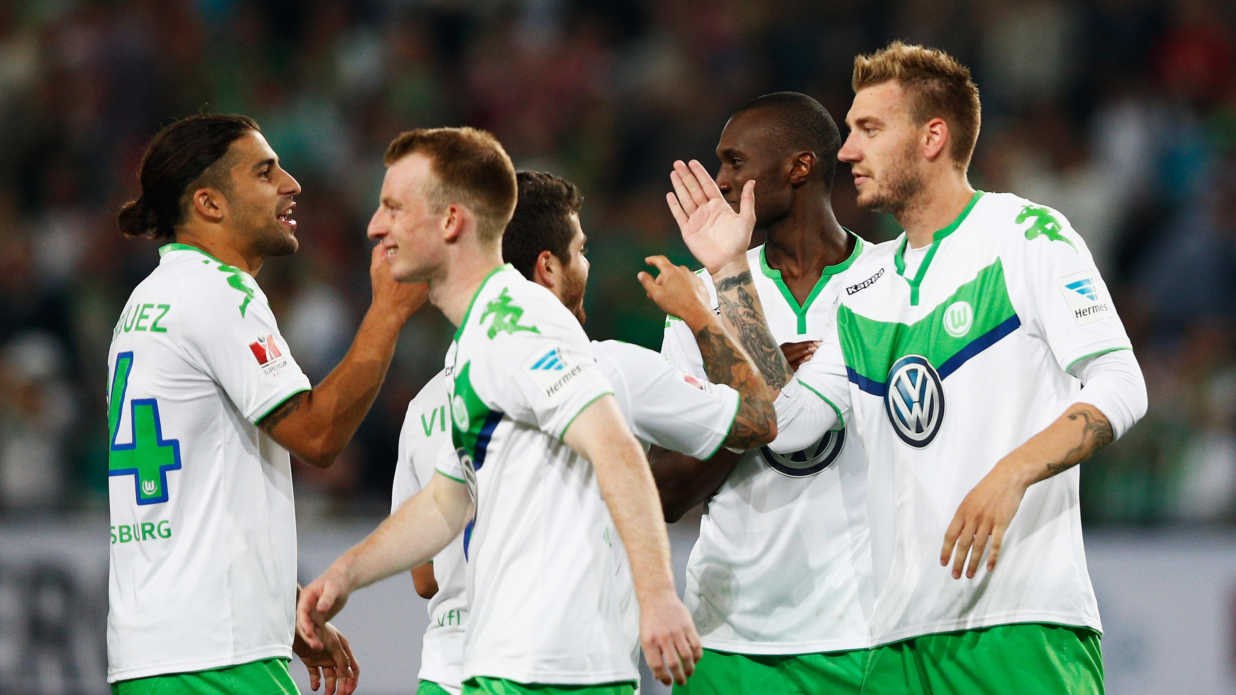 Nicklas Bendtner og holdkammeraterne i Wolfsburg.