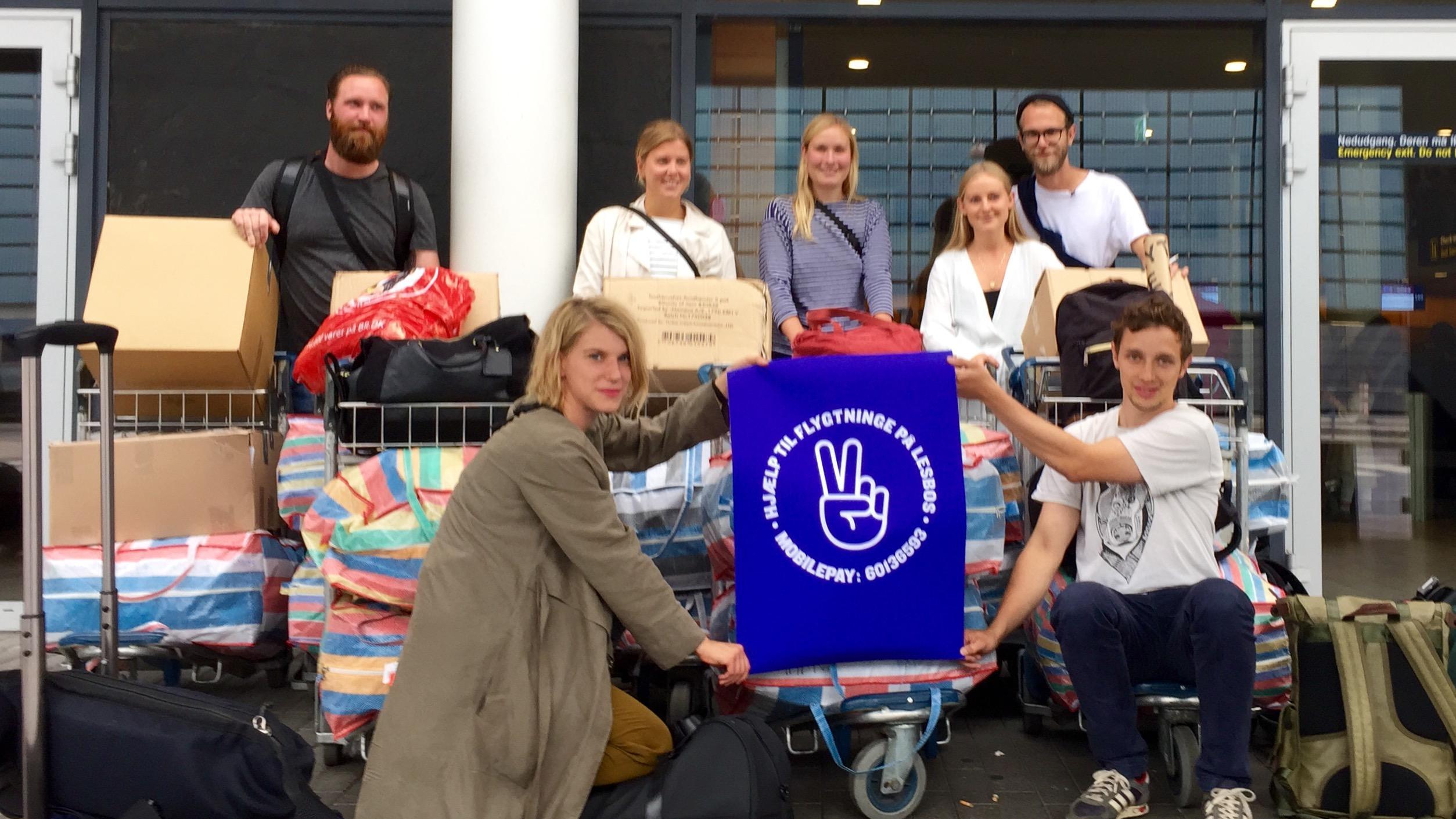 Frederik Kirkeskov og venner Lesbos flygtninge