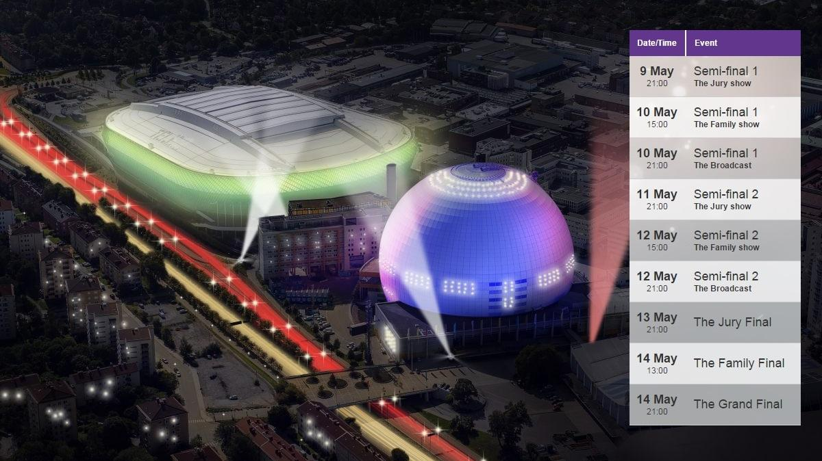 Globen Arena Stockholm Eurovision 2016