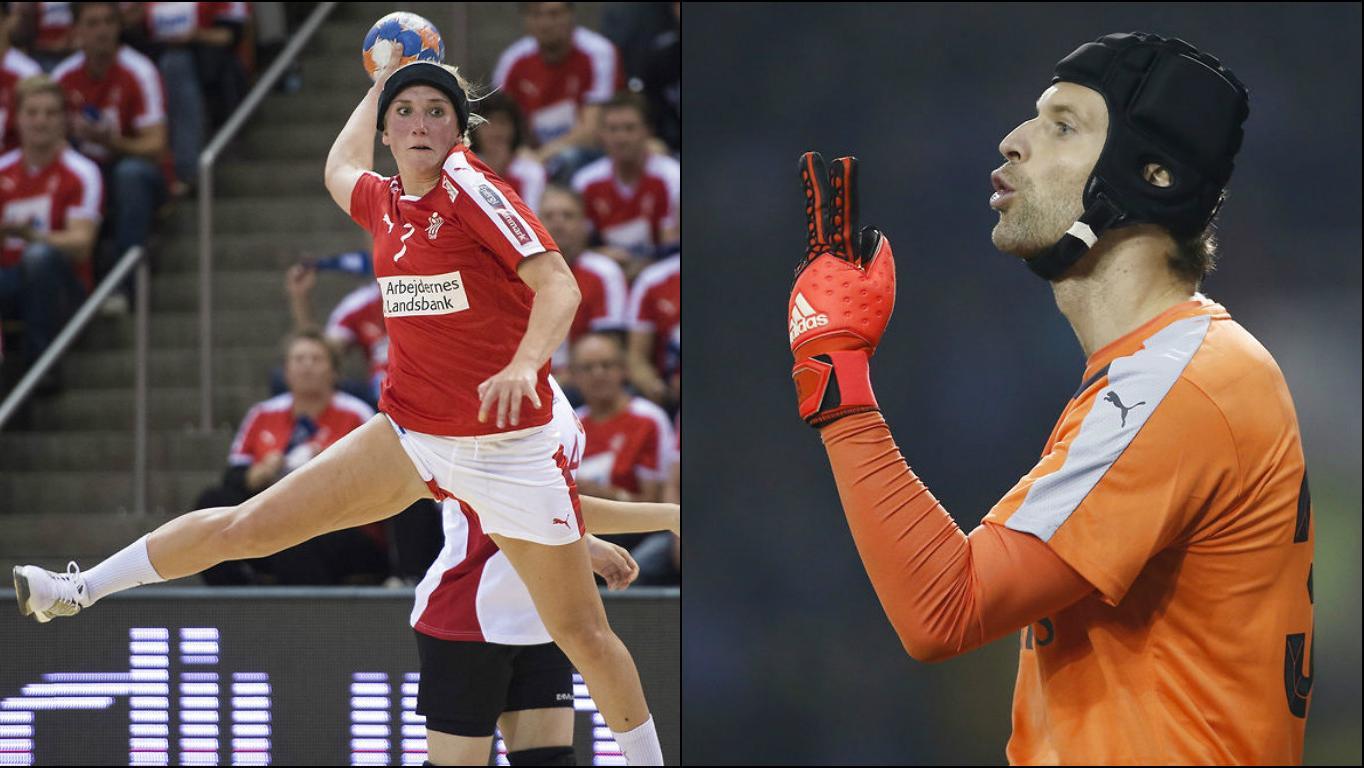 Maria Fisker og Petr Cech