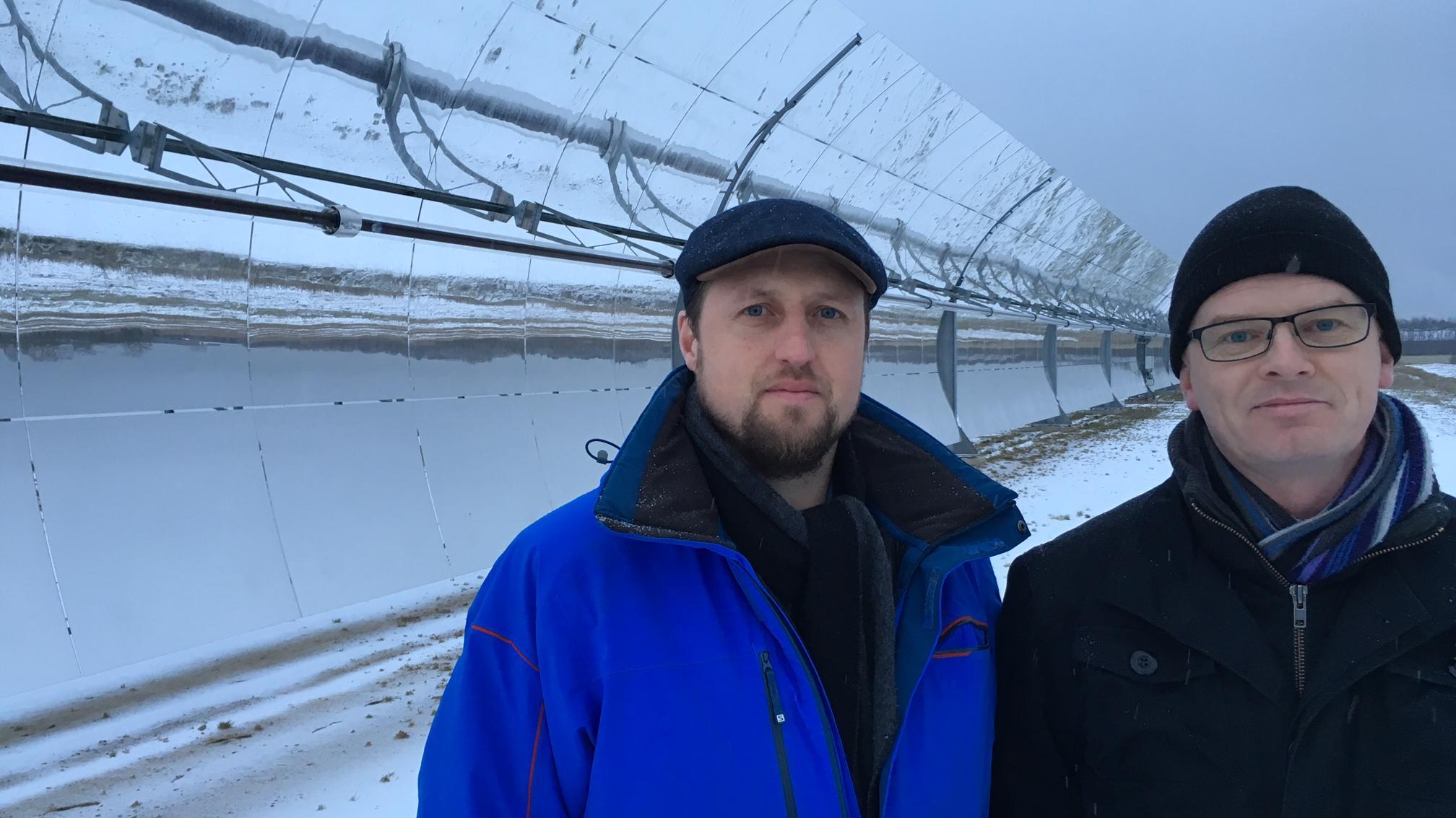 Svante Bundgaard, adm.direktør Aalborg CSP og Lasse Riisgaard, bestyrelsesformand Brønderslev Forsyning