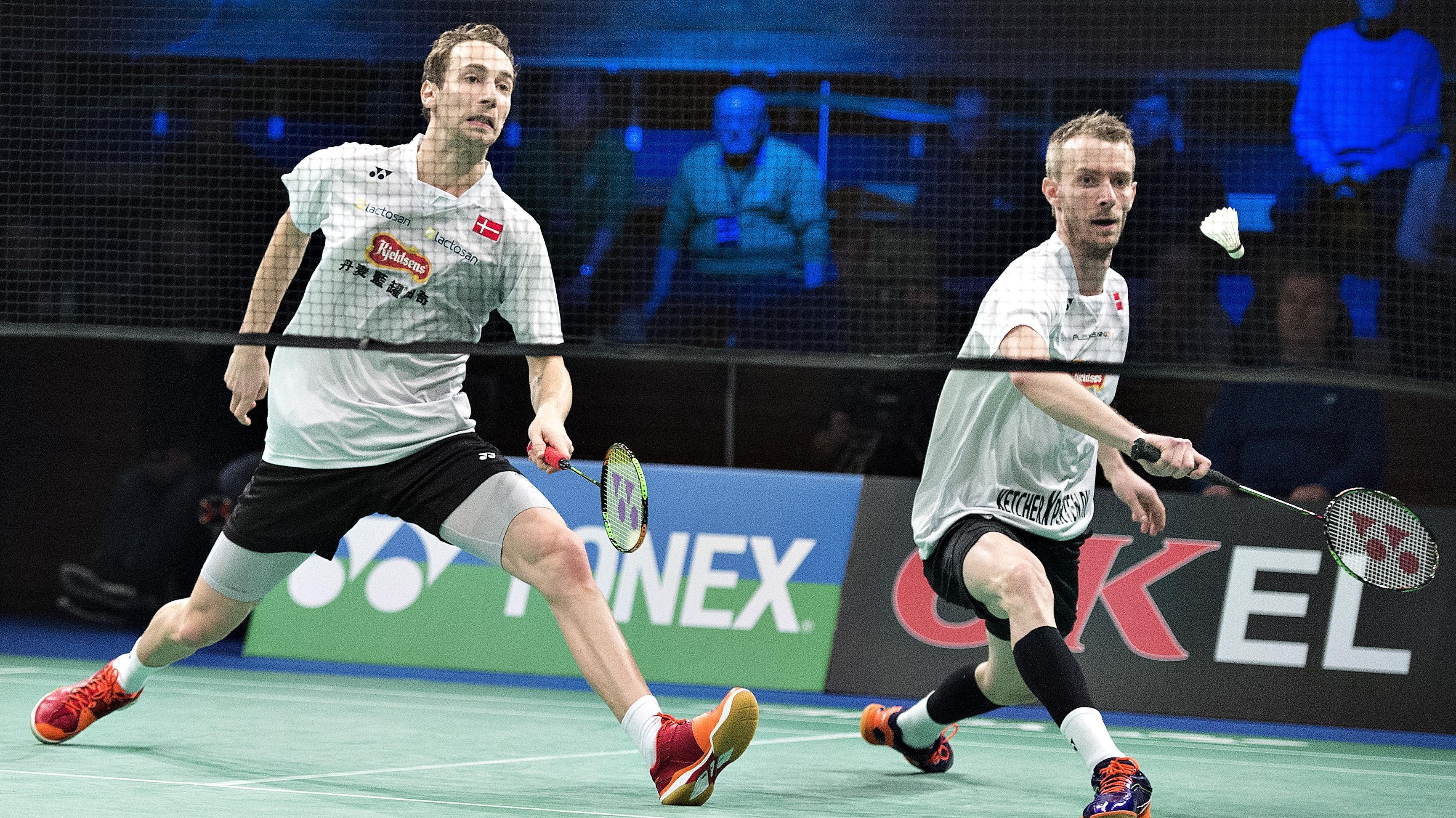 L¦ge Der venter Mogensen en lang og sej kamp Badminton