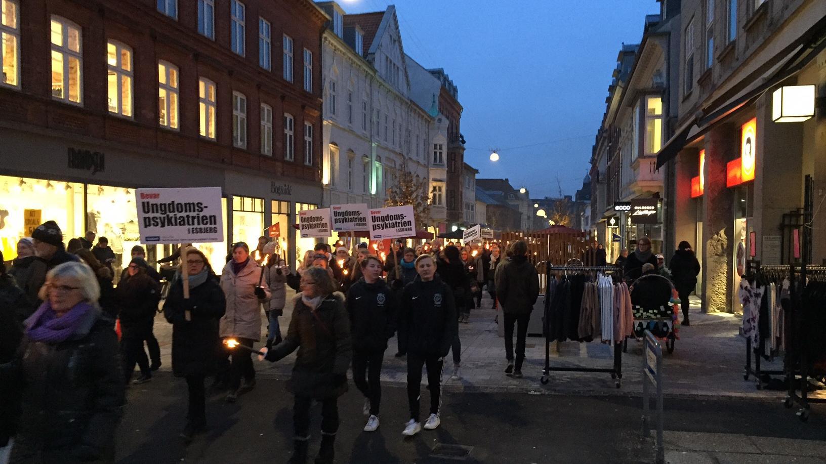 Demonstration i Esbjerg