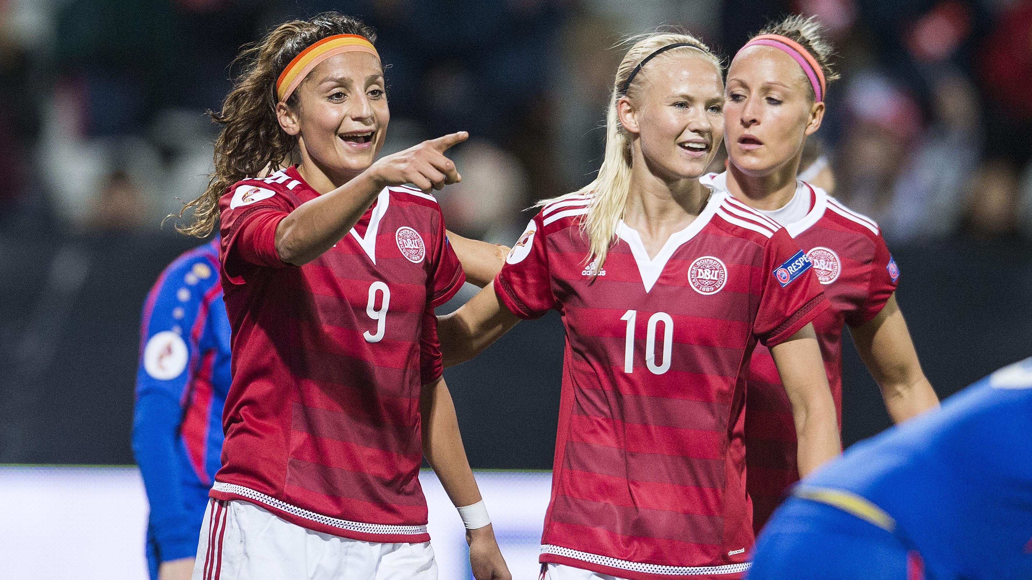 Nadia Nadim, Pernille Harder og Sanna Troelsgaard