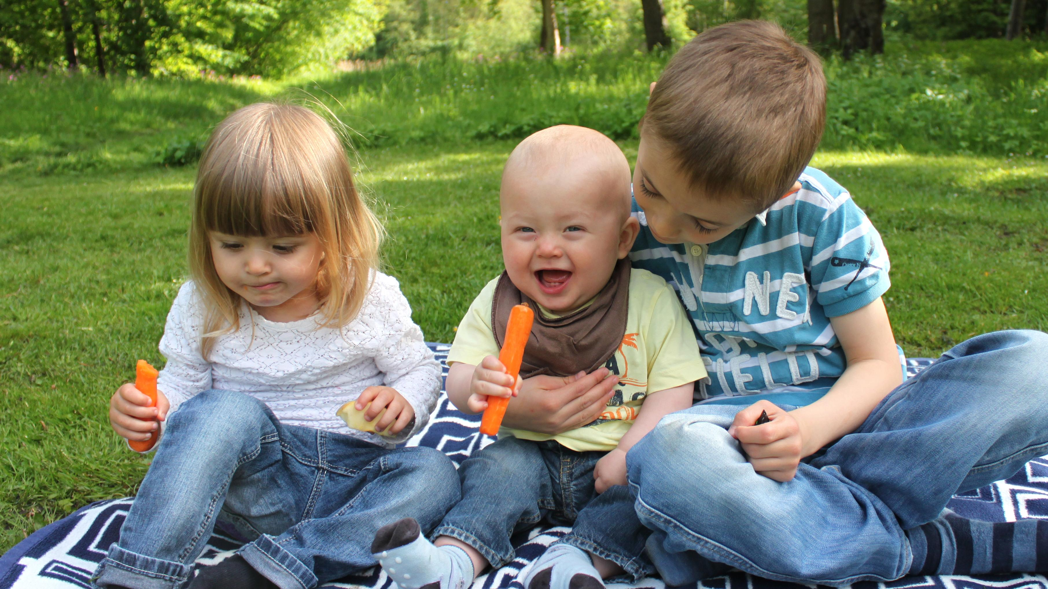 Tre børn