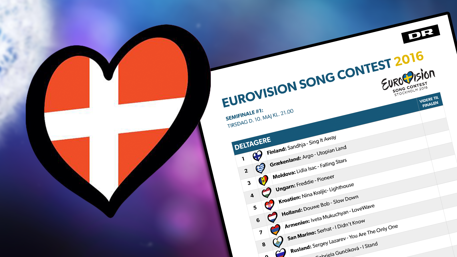 Stemmeseddel Eurovision 2016