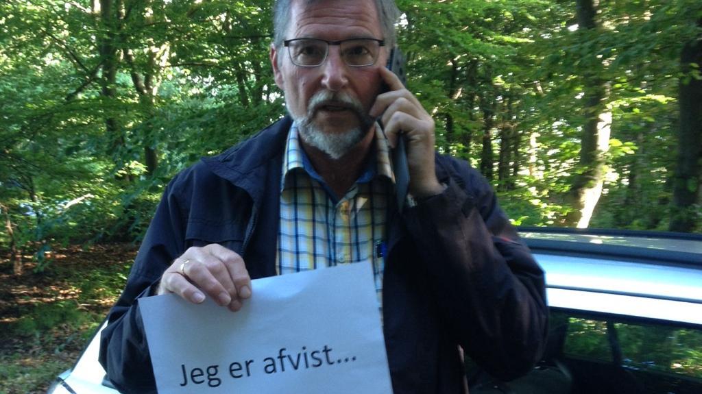 Lindvig Osmundsen, sognepræst i Bording Kirke, demonstration