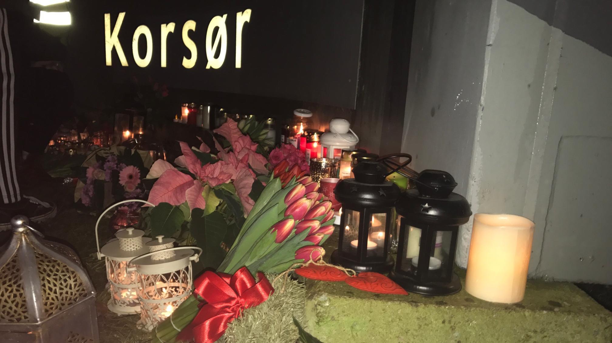 Blomster ved Korsør Station