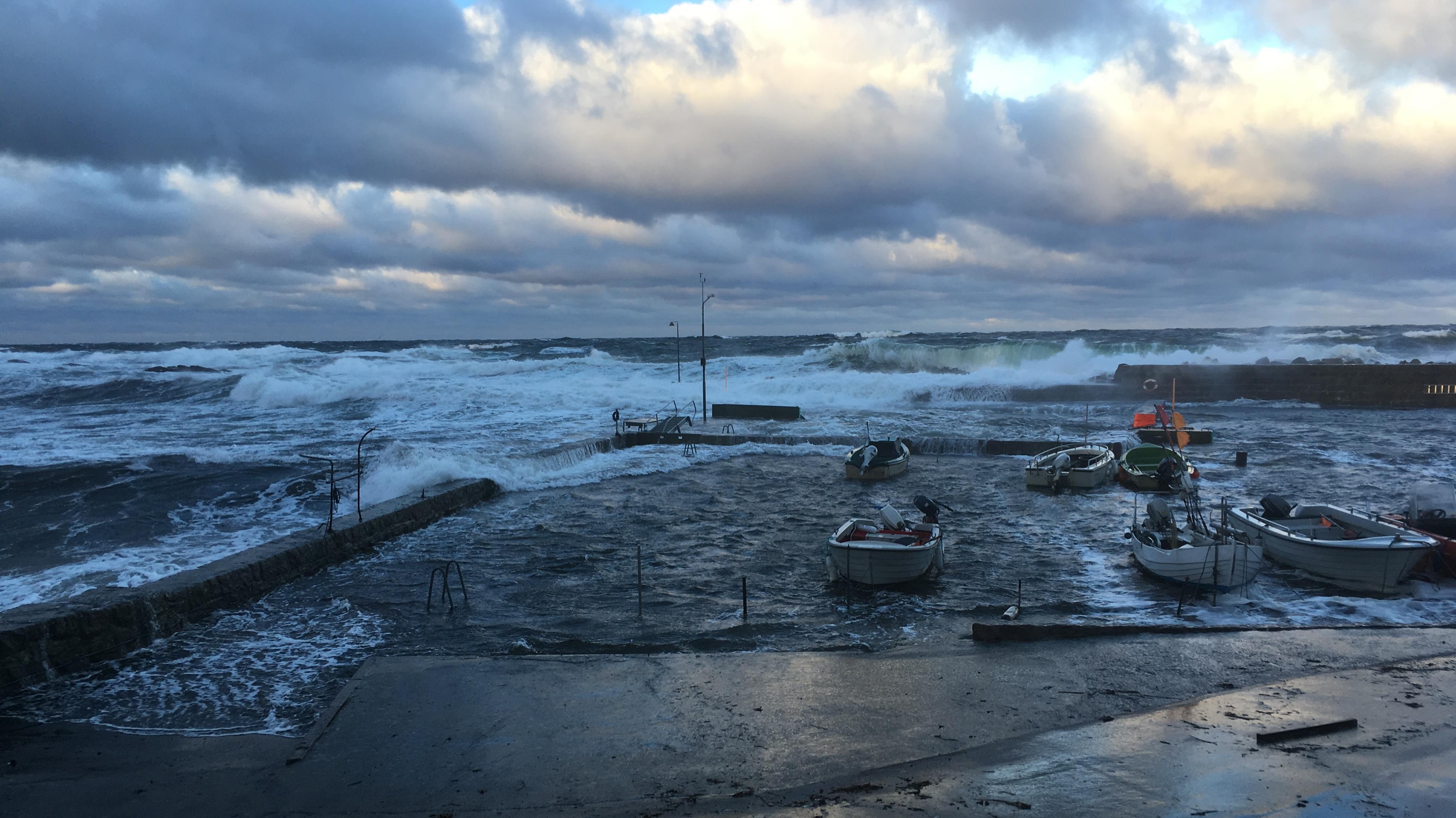 Billede fra vores reporter på Bornholm