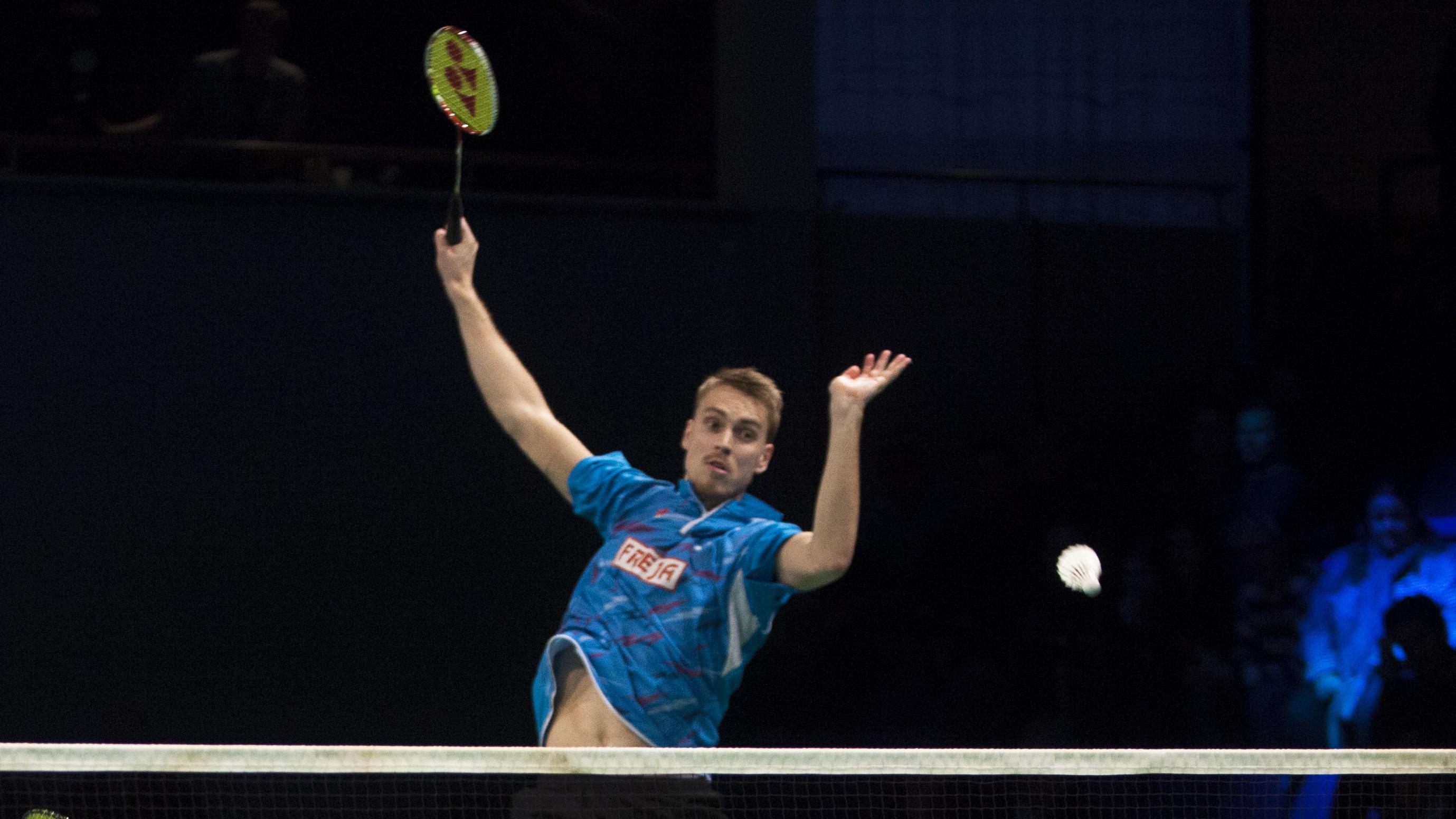 Mads Pieler Kolding laver verdens h¥rdeste smash Badminton