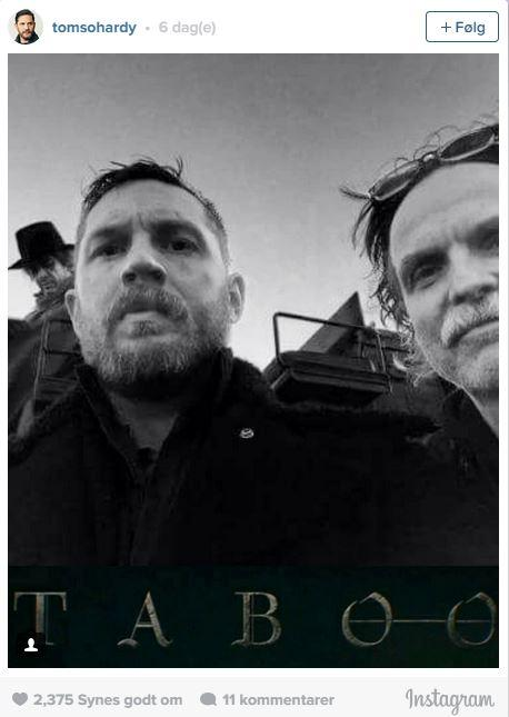 Tom Hardy Instagram med Kristoffer Nyholm