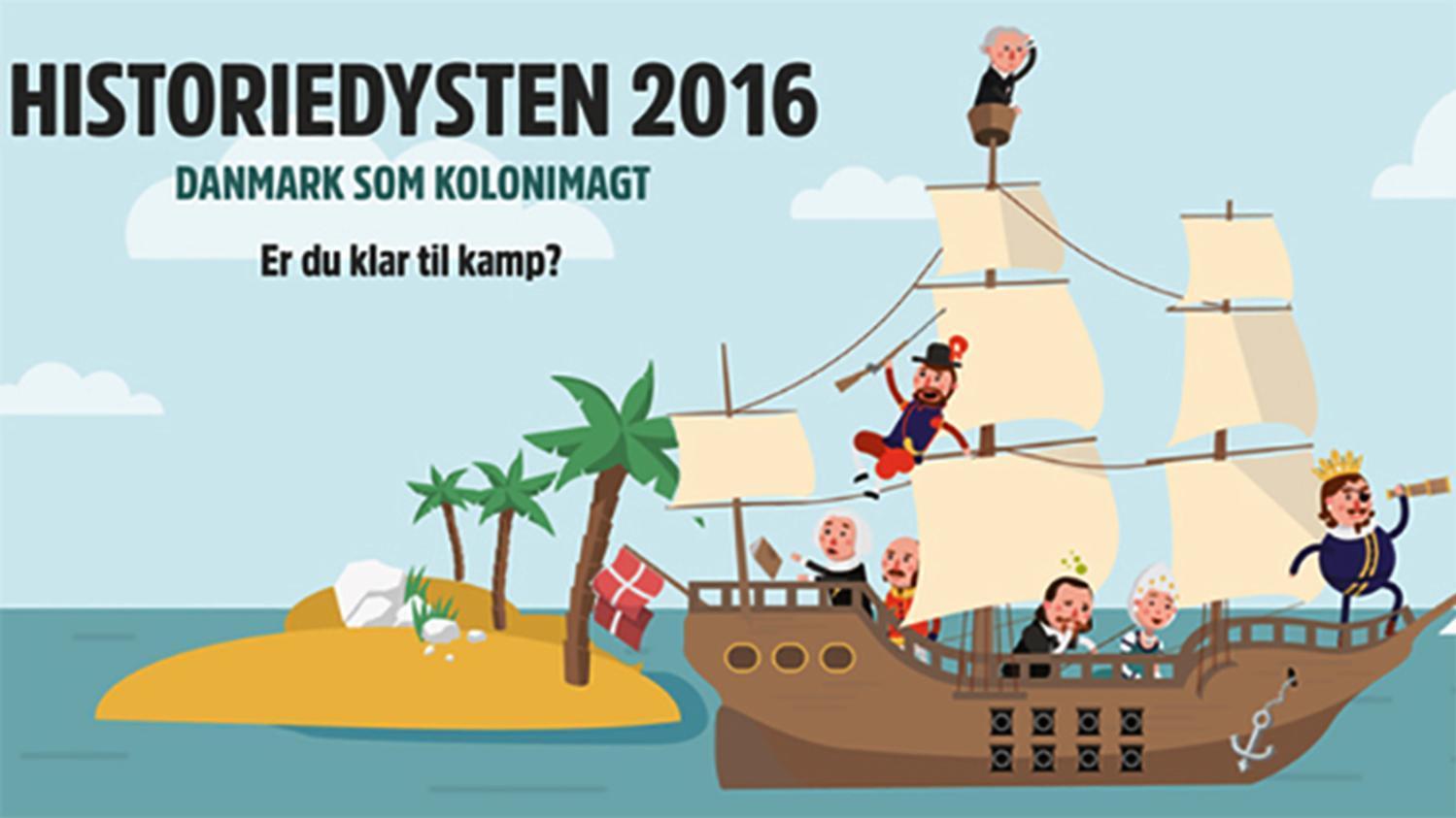 DR Skole har lanceret Historiedysten 2016
